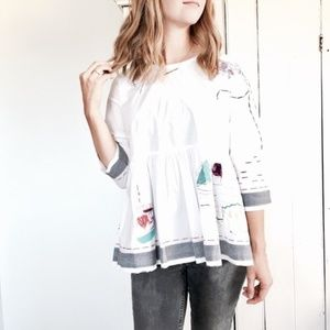 Anthropologie brand Holding Horses embroid Top